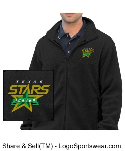 Mens 8 oz. Full-Zip Fleece Jacket Design Zoom